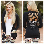 Fashion Skull On The Back Sweater