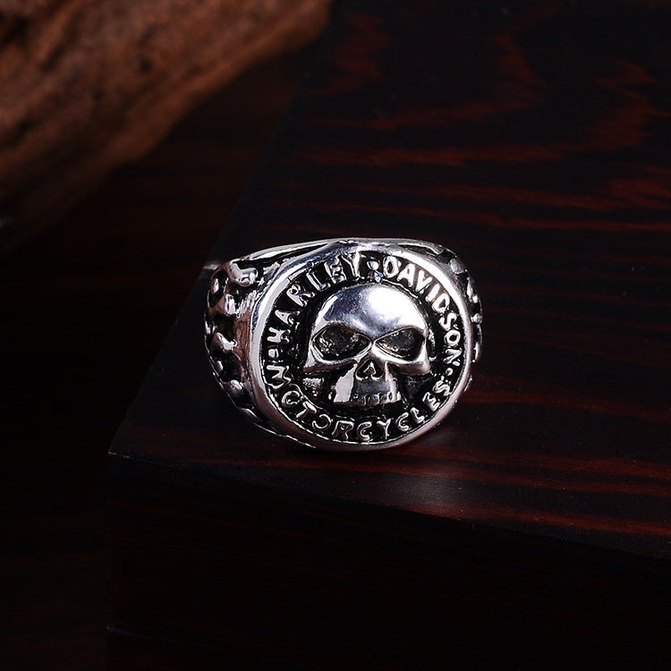 Punk Style Retro Skull Ring