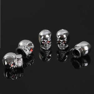 5Pc Skull Wheel Caps Cover