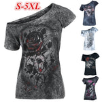 Plus Size Gothic Cotton T-shirt