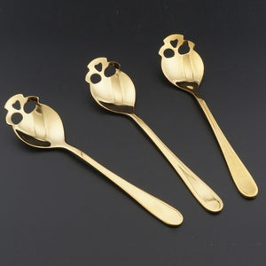 Stainless Steel Skull Dessert Spoon