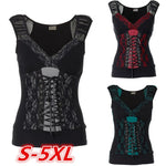 Sleeveless Lace Casual Shirt
