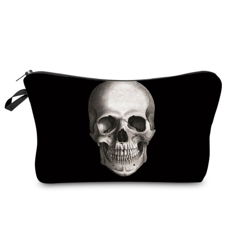 Skull 3D Printed Cosmetic Bag