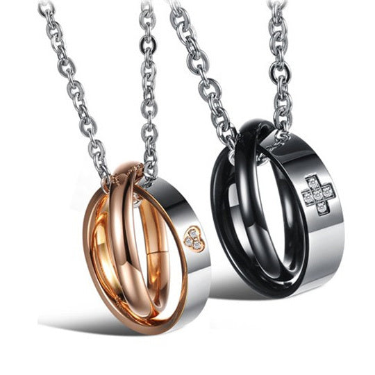 Colar para Casal Ring Lovers