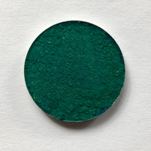Load image into Gallery viewer, Deep jewel green emerald toned pigmented eyeshadow in 26mm magnetic pan affordable makeup