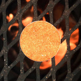close up of thr orange copper golden sparkle fire warm firey