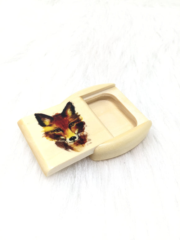 Laser Colored Fox Slider Box
