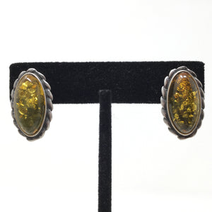 Baltic Amber Oval Earrings