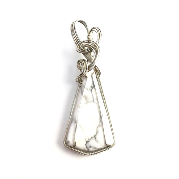 Howlite Wire Wrapped Pendant