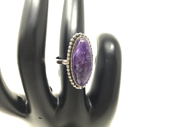 Grade AA Charoite Ring, size 6