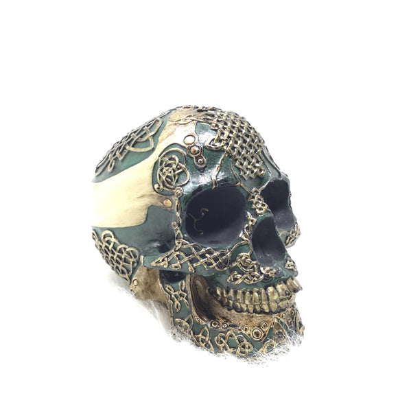 Celtic Style Skull Coin Bank