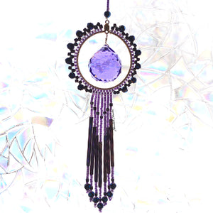 Purple Austrian Crystal Sun Catcher
