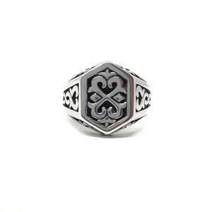 Celtic Steel Ring, size 14
