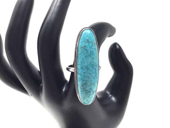 Chinese Turquoise Ring, size 8