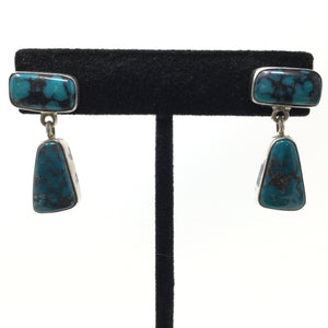 Contemporary Turquoise Post Earrings