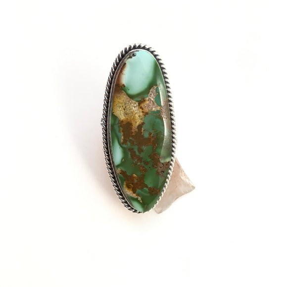 Royston Styled Variscite Ring, size 10.5