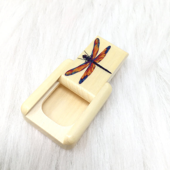 Laser Colored Dragonfly Slider Box