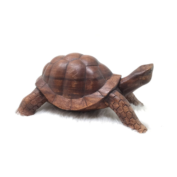 Wood Carved Lifesized Turtle