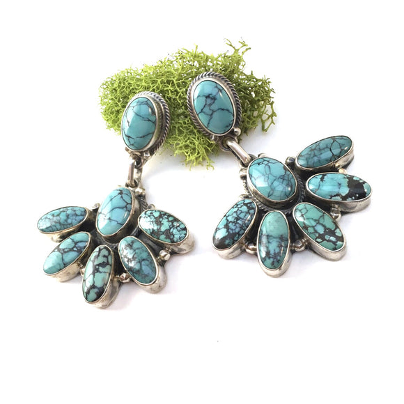 Kingman Turquoise Statement Earrings