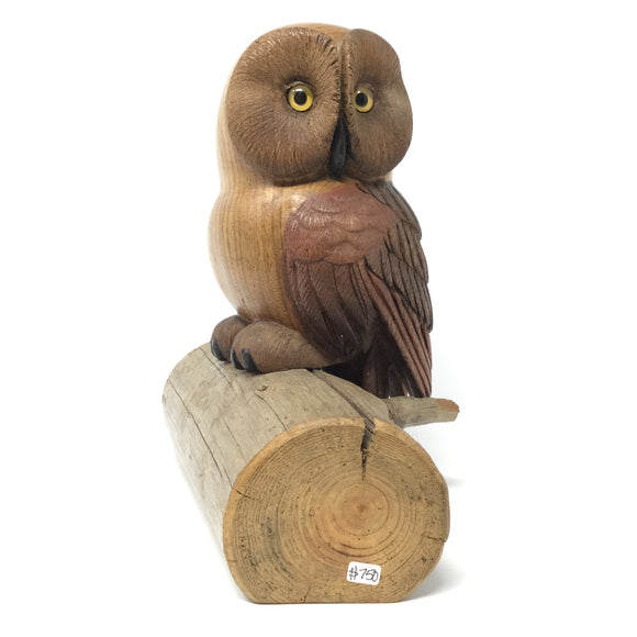 Life sized Owl Carving