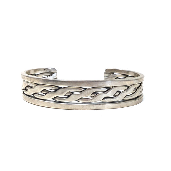 Braid Detailed Cuff Bracelet