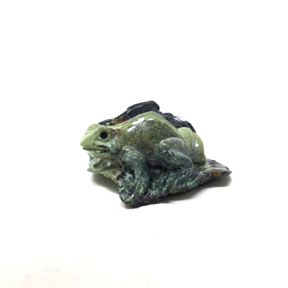 Carved Hubei Turquoise Frog