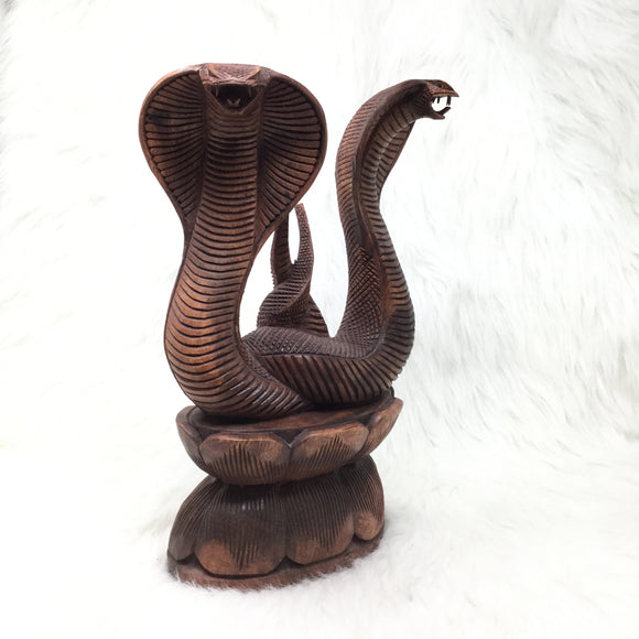 Carved Double Cobras