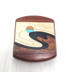 Small Inlaid Wave Slider Box
