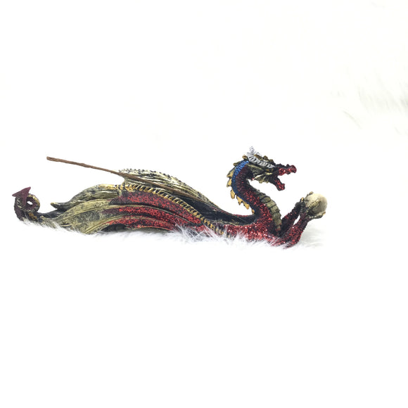 Red Dragon Glitter Incense Burner