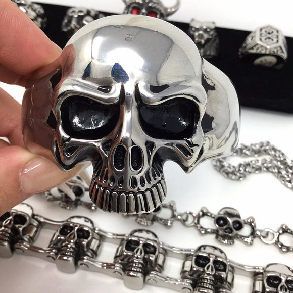 Stainless Steel Skull Cuff
