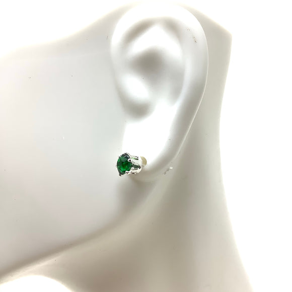 Tsavorite Garnet Post Earrings