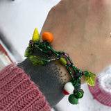 Glass Vegetable Charm Bracelet