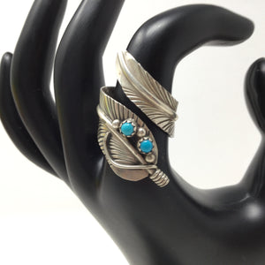 Adjustable Feather Ring, size 7.5