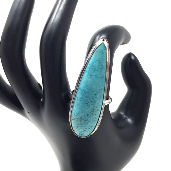 Chinese Turquoise Ring, size 10