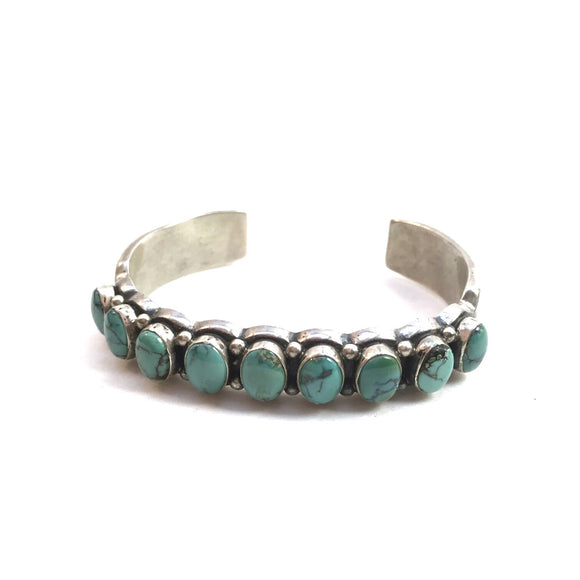 Heavy Turquoise Stacking Cuff