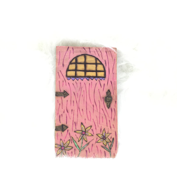 Wood Burned Fairy Door