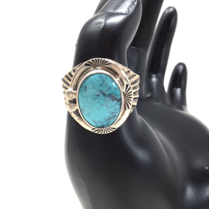 Chinese Turquoise Ring, size 12