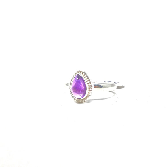 Amethyst Stacker Ring, size 10
