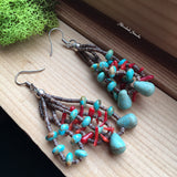 Kingman Turquoise and Adriatic Coral Beaded Set