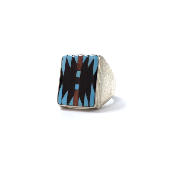 Zuni Inlay Ring, size 10.5