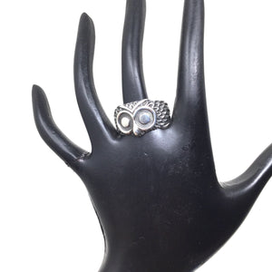 Owl Face Ring, size 9
