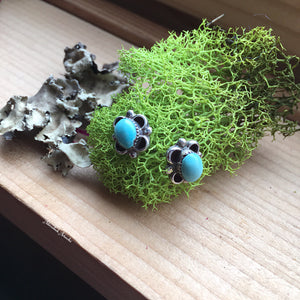 Small Turquoise Post Earrings