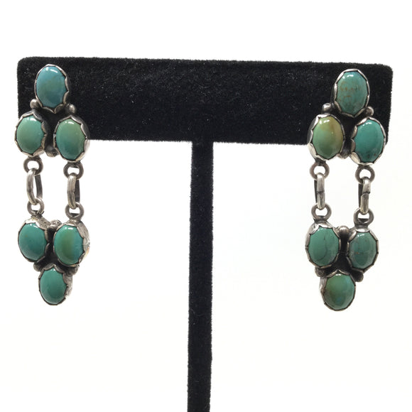 Kingman Turquoise Articulated Post Earrings