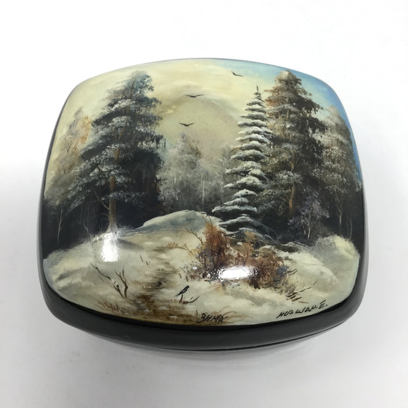Lacquered Winter Themed Box