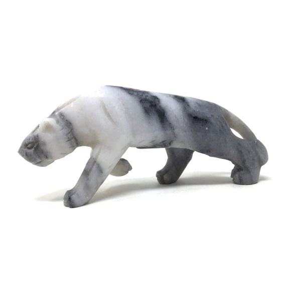 Carved Marble Panther