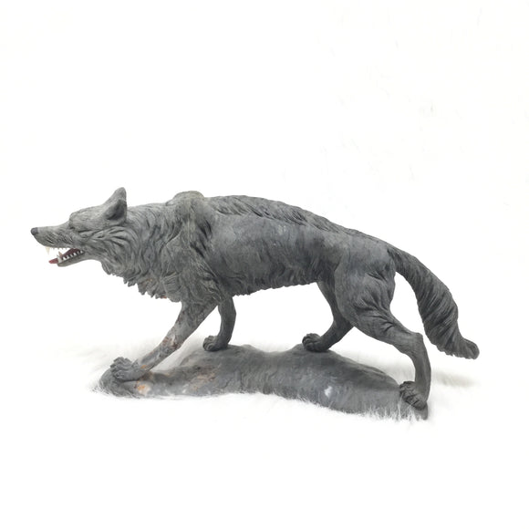 Carved Picasso Agate Wolf