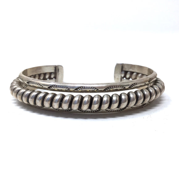 Stamp Detailed Twist Cuff Bracelet