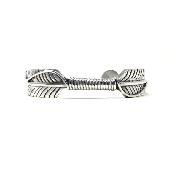 Cast Feather Cuff Bracelet