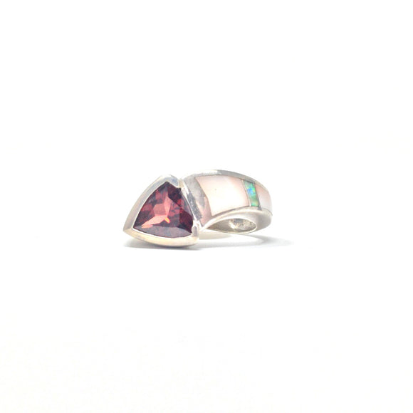 Garnet and Opal Ring, size 6