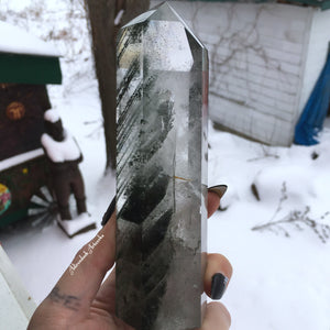 Large Chlorite Included Clear Quartz